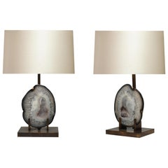 Pair of Agate Lamps by Phoenix Gallery