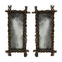 Aged Wood Belgian Mirror