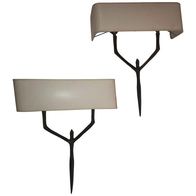 Pair of Agostini Sconces For Sale