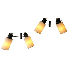Pair of Adjustable Sconces by Maison Lunel, 1950