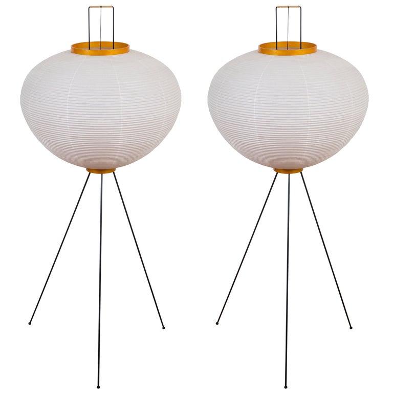 Pair of Akari 10A Floor Lamps by Isamu Noguchi
