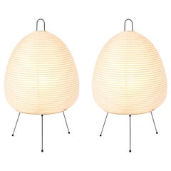 Pair of Akari Model 1A Light Sculptures by Isamu Noguchi