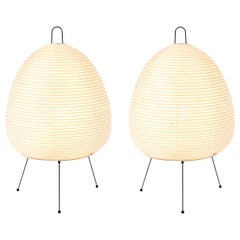 Pair of Akari Model 1A Light Sculptures by Isamu Noguchi