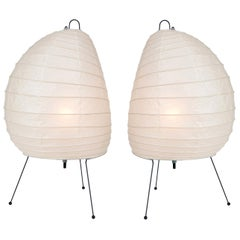Pair of Akari Model 1N Light Sculptures by Isamu Noguchi