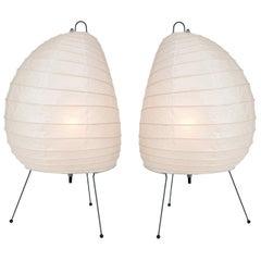 Pair of Akari Model 1N Light Sculptures by Isamu Noguchi