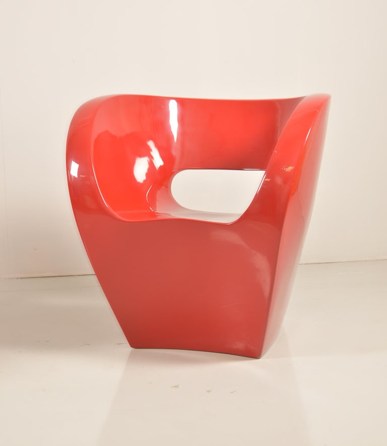 Italian Pair of  Albert Red Armchairs by Ron Arad in 2000 for Moroso For Sale