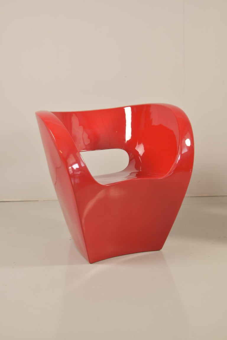 Pair of  Albert Red Armchairs by Ron Arad in 2000 for Moroso In Good Condition For Sale In Rovereta, SM