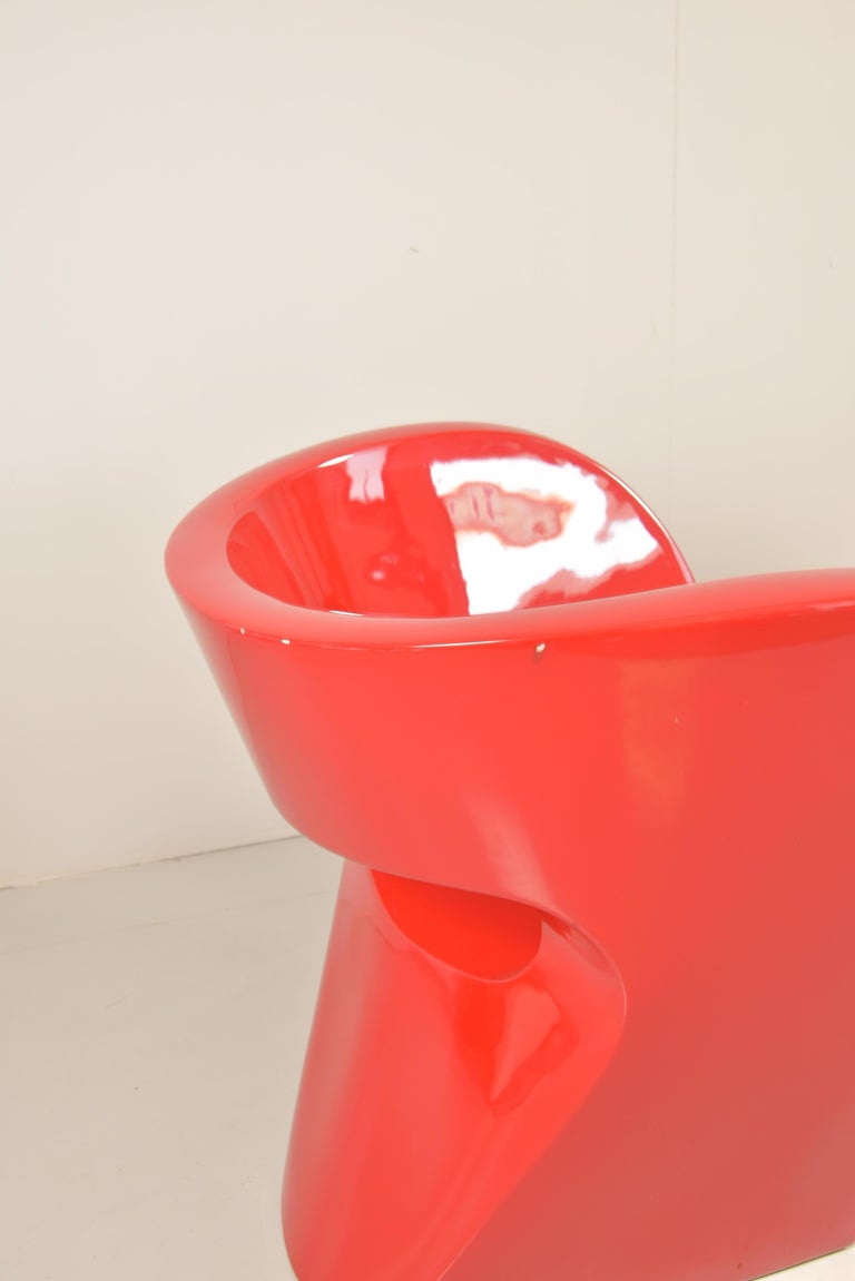 Polystyrene Pair of  Albert Red Armchairs by Ron Arad in 2000 for Moroso For Sale