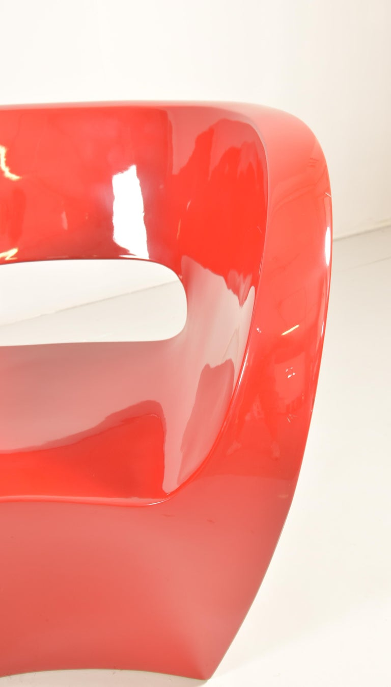 Pair of  Albert Red Armchairs by Ron Arad in 2000 for Moroso For Sale 1