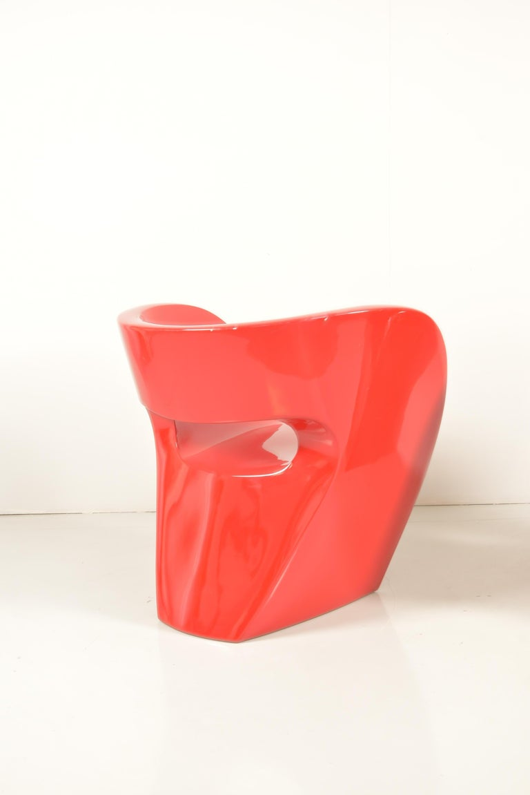 Pair of  Albert Red Armchairs by Ron Arad in 2000 for Moroso For Sale 2