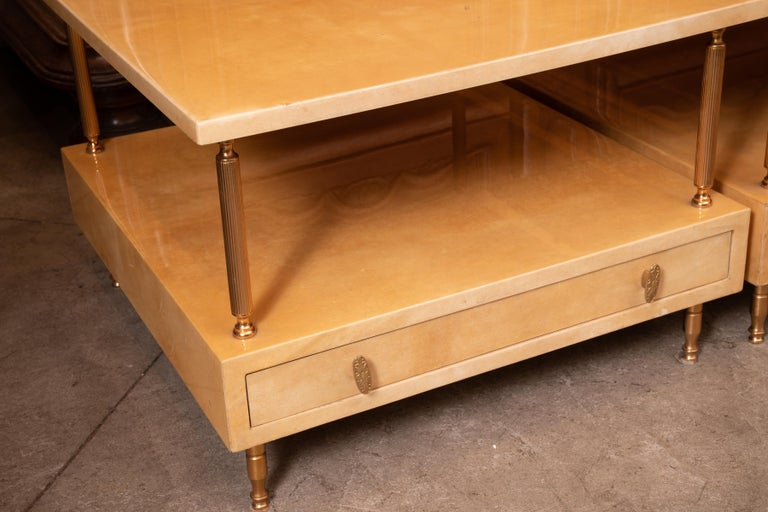 Mid-Century Modern Pair of Aldo Tura Lacquered Tables For Sale