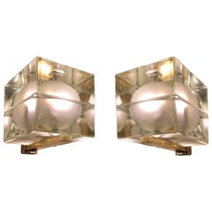 "Pair of Alessandro Mendini ""Cubosfera"" Wall Lights"