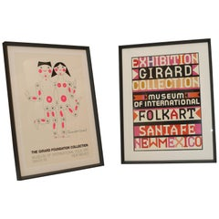 Pair of Alexander Girard Custom Framed Exhibition Posters