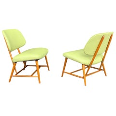 """Pair of Alf Svensson """"teve"""" Lounge Chairs in Leather"""