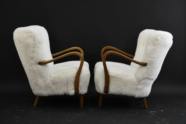 Pair of Alfred Christensen for Slagelse Møbelfabrik Danish Lounge Chairs For Sale 4