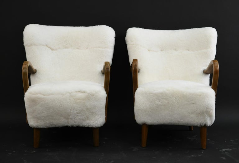Pair of Alfred Christensen for Slagelse Møbelfabrik Danish Lounge Chairs For Sale 1