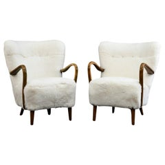 Pair of Alfred Christensen for Slagelse Møbelfabrik Danish Lounge Chairs