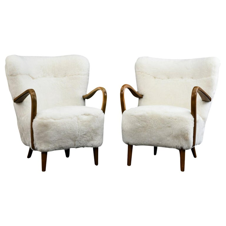 Pair of Alfred Christensen for Slagelse Møbelfabrik Danish Lounge Chairs For Sale