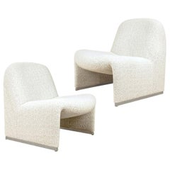 """Pair of """"Alky"""" Chairs, Castelli with Dedar New Upholstery Boucle"""
