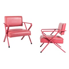 Pair of All Original X-Chairs by William Haines