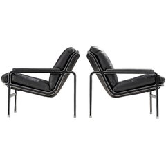 Pair of 'Aluline' Easy Chairs by Andre Vandenbeuck for Strassle