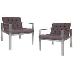 Pair of Aluminum Frame Lounge Chairs by Harvey Probber, circa 1960