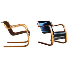 Pair of Alvar Aalto Model 31 Armchairs for Finmar Finland, circa 1930s