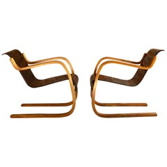 Pair of Alvar Aalto Model 31 Armchairs for Finmar, Finland, circa 1930s