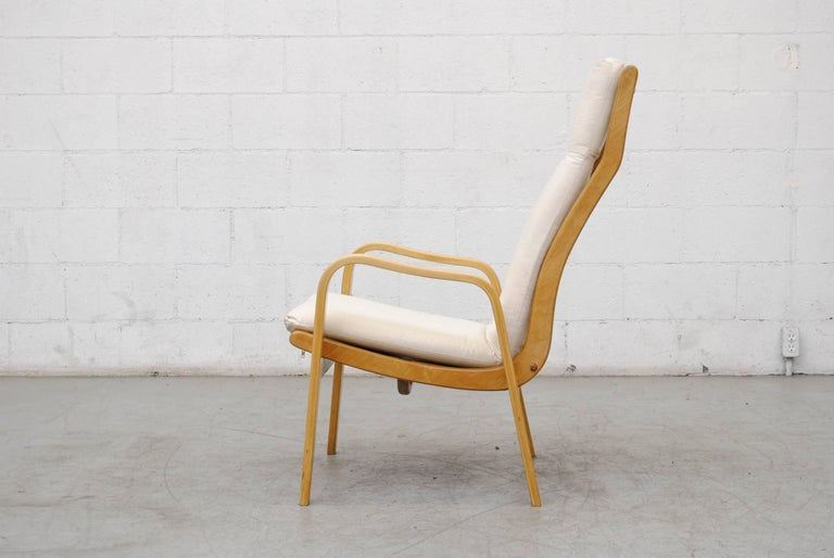 Pair of Alvar Aalto Style Bent Plywood Lounge Chairs by Pastoe In Good Condition For Sale In Los Angeles, CA