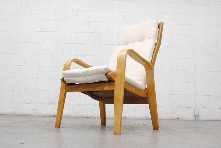 Pair of Alvar Aalto Style Bent Plywood Lounge Chairs by Pastoe For Sale 2