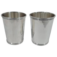 Pair of Alvin Traditional Sterling Silver Mint Julep Cups