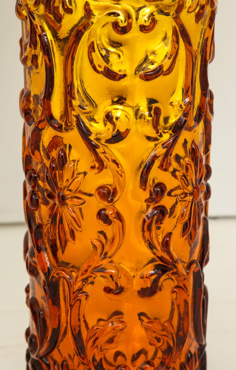 Pair of Amber Bitossi Lamps In Good Condition For Sale In New York City, NY