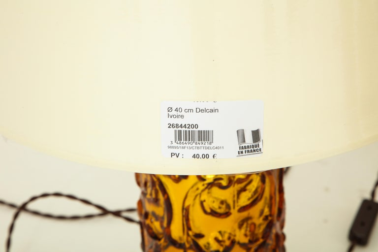 Pair of Amber Bitossi Lamps For Sale 1