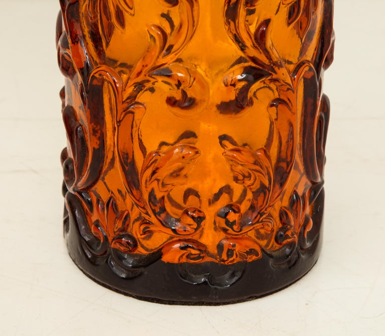 Pair of Amber Bitossi Lamps For Sale 2