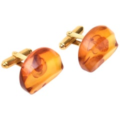 Pair of Amber Vintage Cufflinks