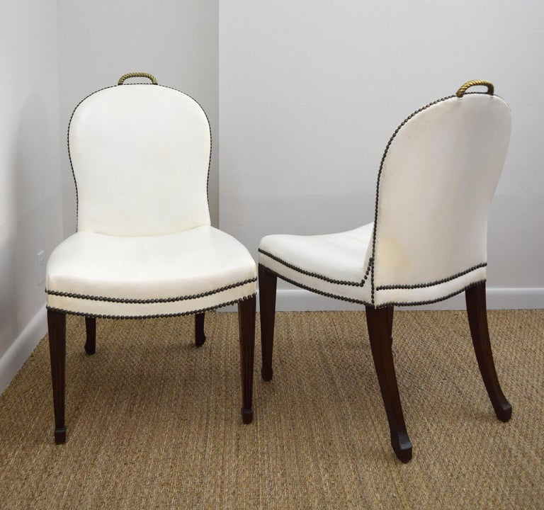 George III Pair of  American 1930s 'Cafe Society' Chairs For Sale