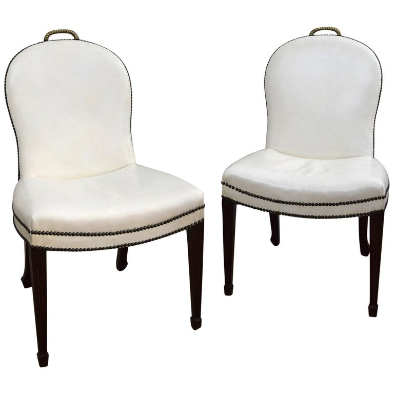 Pair of  American 1930s 'Cafe Society' Chairs For Sale
