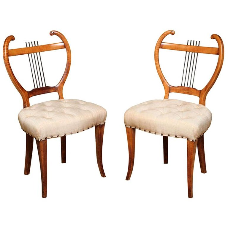 Pair of American 1940s Side Chairs For Sale