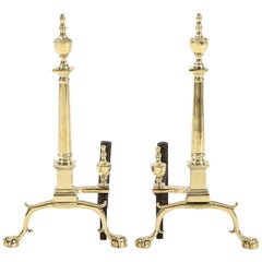 Pair of American Classical Style Andirons
