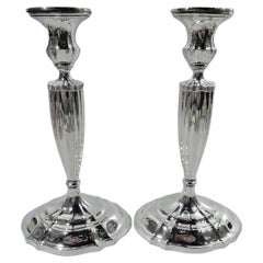 Pair of American Edwardian Sterling Silver Candlesticks by Gorham