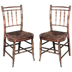 Pair of American Federal Side Chairs