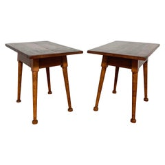 Pair of American Hand Crafted Studio Side Tables by M. Campbell Lorini, D. 1940