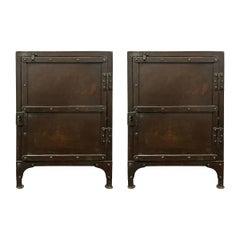 Pair of American Industrial Steel Cabinets