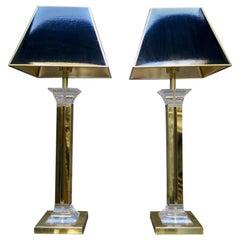 Paar amerikanische Plexiglas Lampen