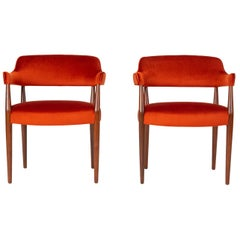 Pair of American-Made Armchairs by J.G. Furniture Company