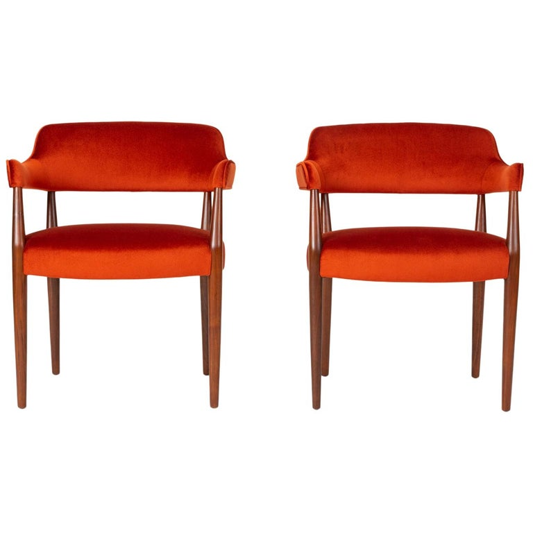 Pair of American-Made Armchairs by J.G. Furniture Company For Sale