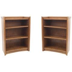 Pair of American Mid-Century Maple Bookcases