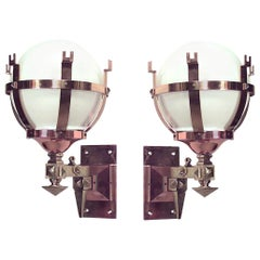 Pair of American Mission Bracket Wall Sconces