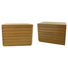 Pair of American Modern Chest of Drawers/ Nightstands, Sligh Furniture