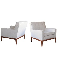 Pair of American Modernist 1950s Club Chairs in the Style of Robsjohn-Gibbings